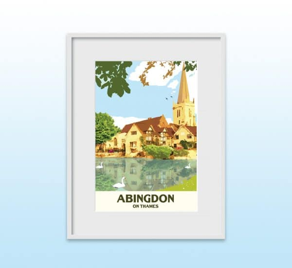 abingdon on thames poster print