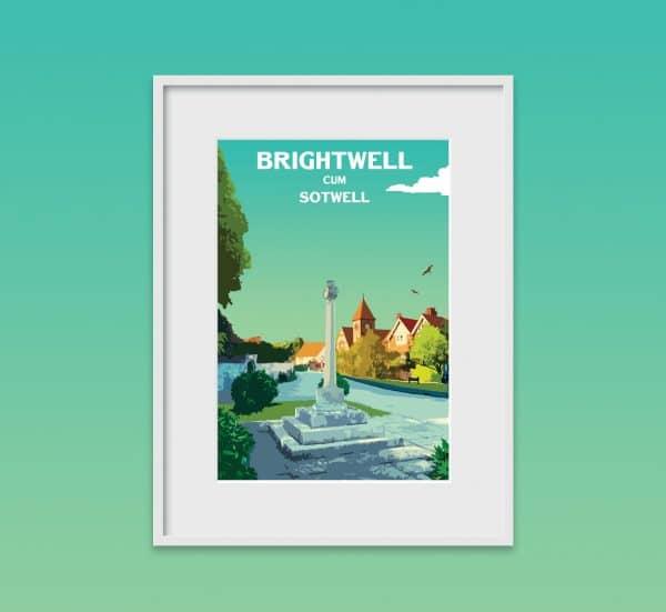 brightwell cum sotwell poster print