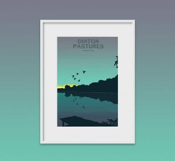 dinton pastures poster print