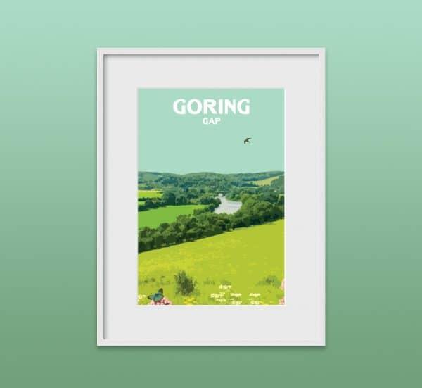 goring gap poster print