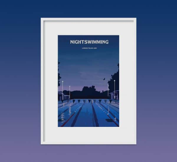 london fields lido poster print