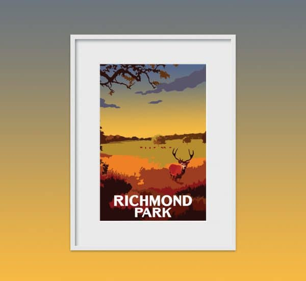richmond park poster print