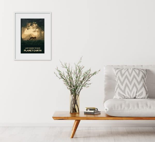 last chance to save planet earth poster print
