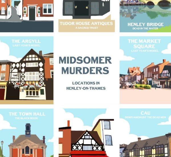 midsomer murders henley on thames poster print
