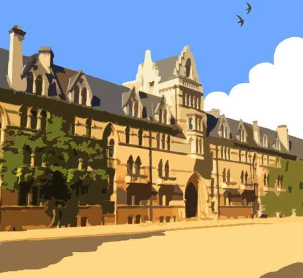 christ church oxford poster print