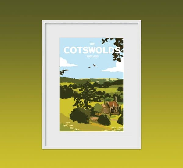 the cotswolds poster print