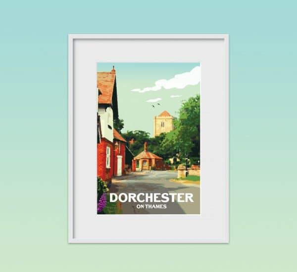 dorchester on thames poster print