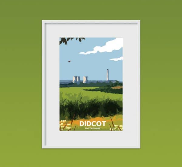didcot oxfordshire poster print