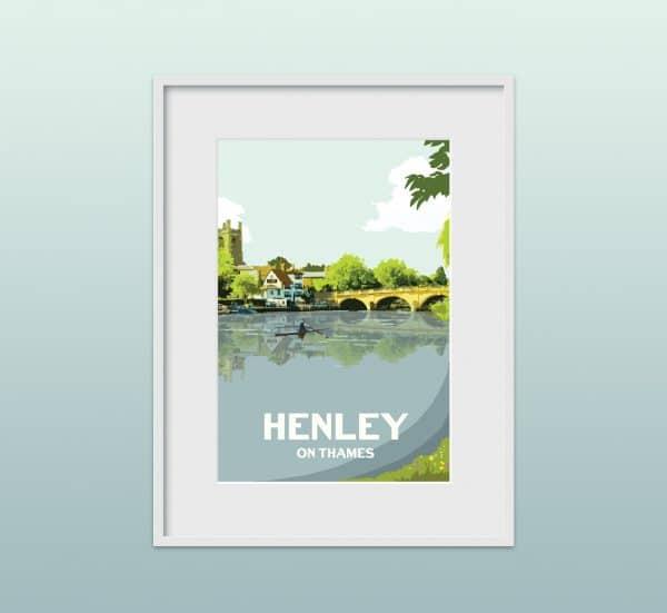 henley on thames poster print