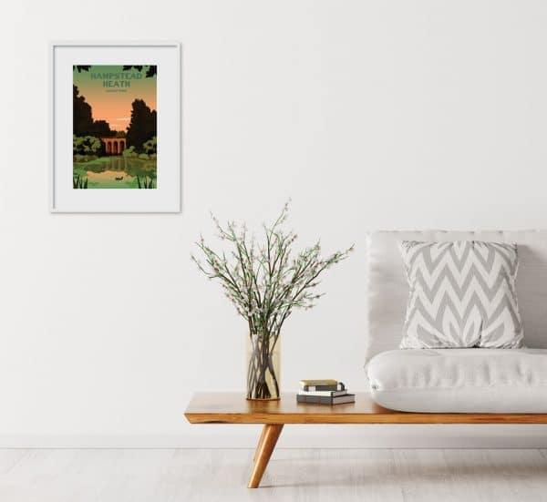hampstead heath viaduct pond poster print
