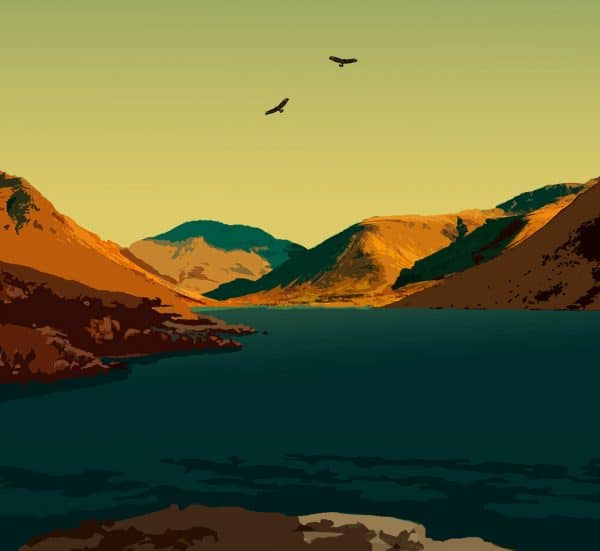 the lake district cumbria poster print
