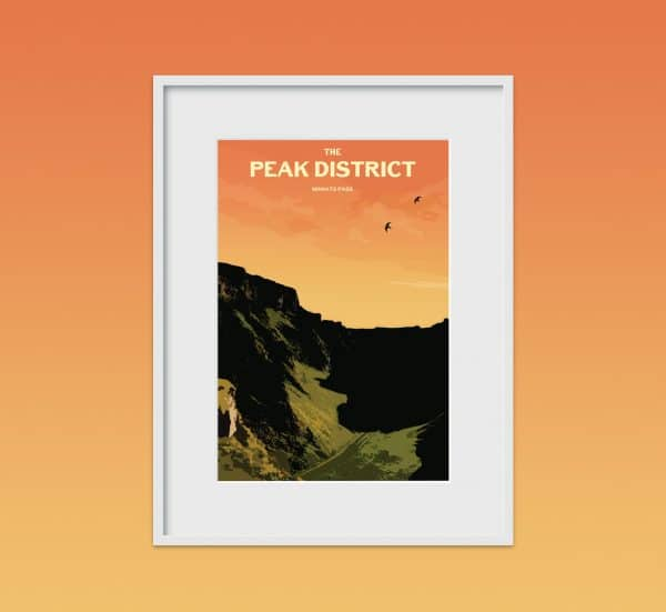 the peak district winters pass poster print