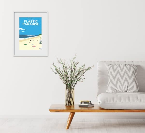 say no to a plastic paradise poster print