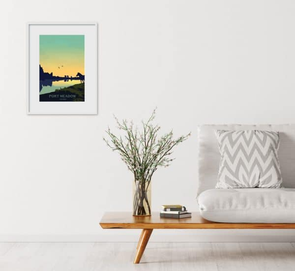 post meadow oxford poster print