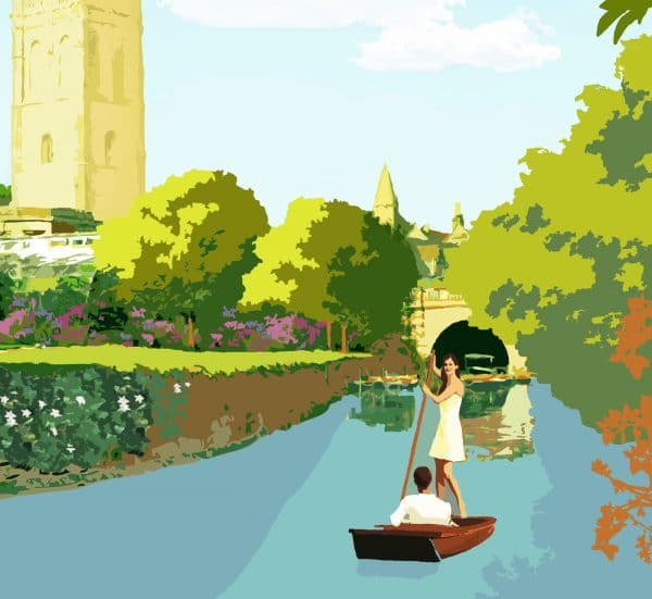oxford on thames poster print