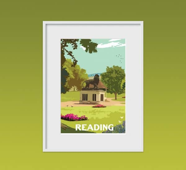 reading poster print