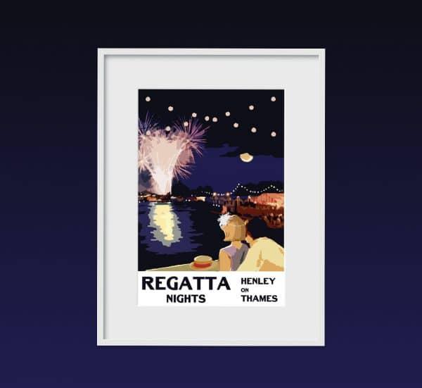 henley regatta poster print
