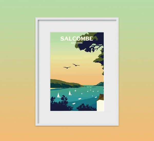 salcombe south hams poster print