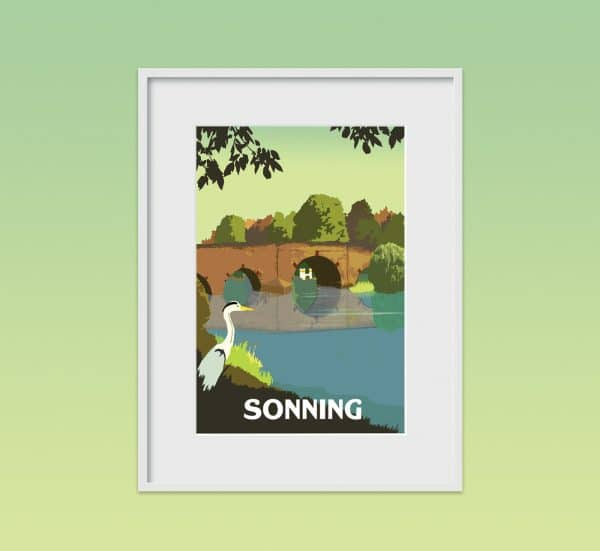 Sonning Poster print