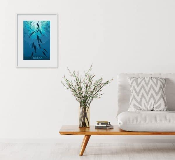 the ocean poster print