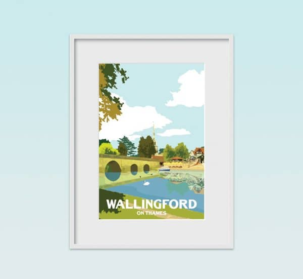 wallingford on thames poster print