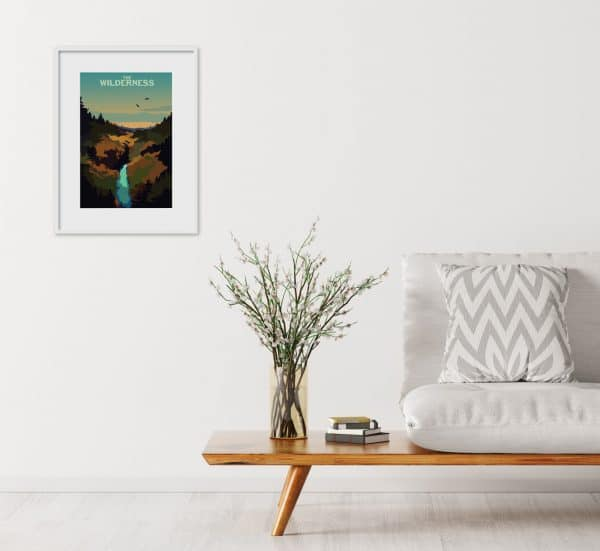 the wilderness poster print