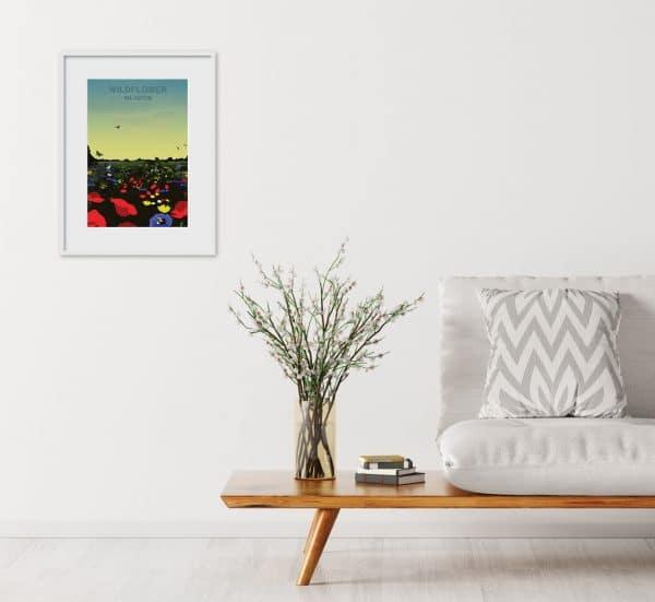 wildflower meadow poster print