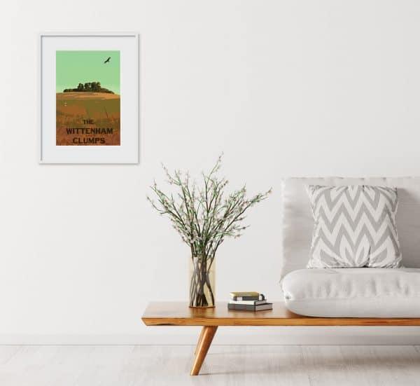 the wittenham clumps poster print