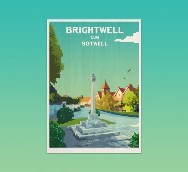 brightwell cum sotwell postcard print