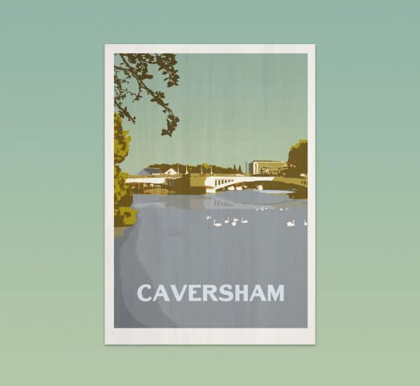 Caversham postcard print