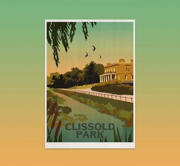 Clissold park postcard print