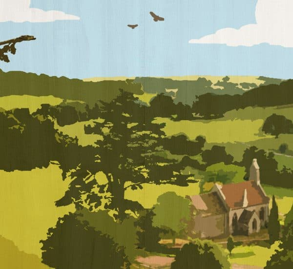The cotswolds postcard print