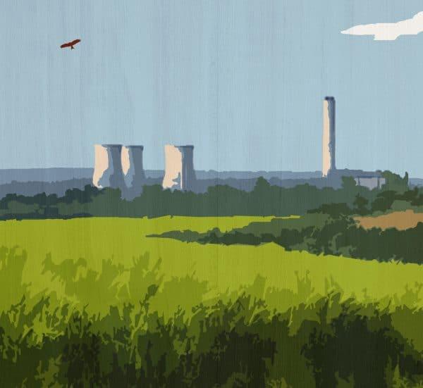 didcot oxfordshire postcard print