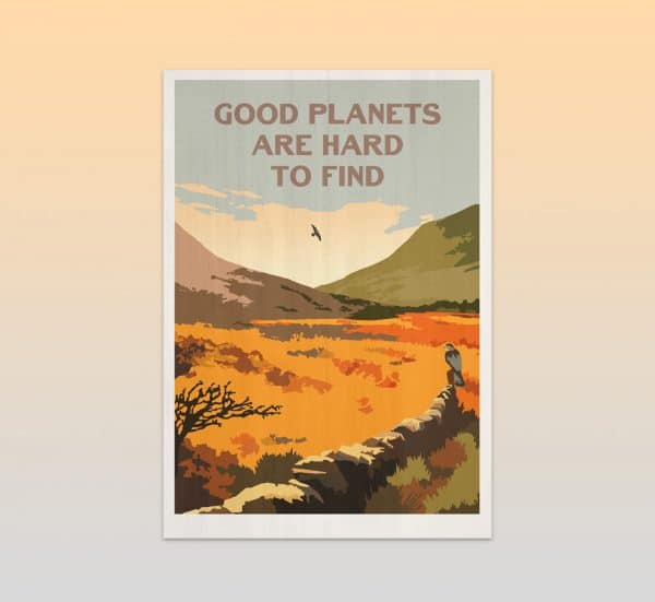 good planets are hard to find postcard print