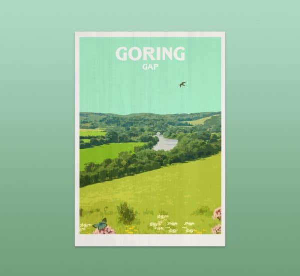 Goring gap postcard print