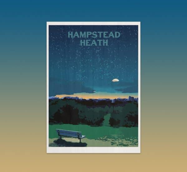 hampstead heath postcard print