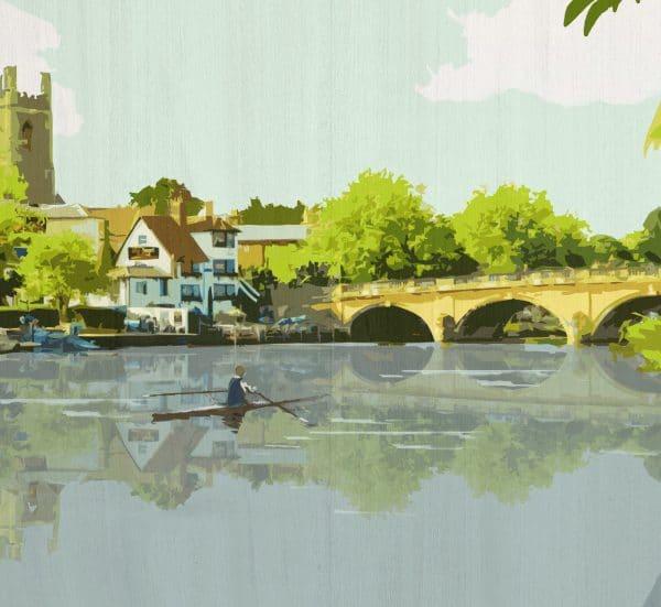 Henley on thames postcard print