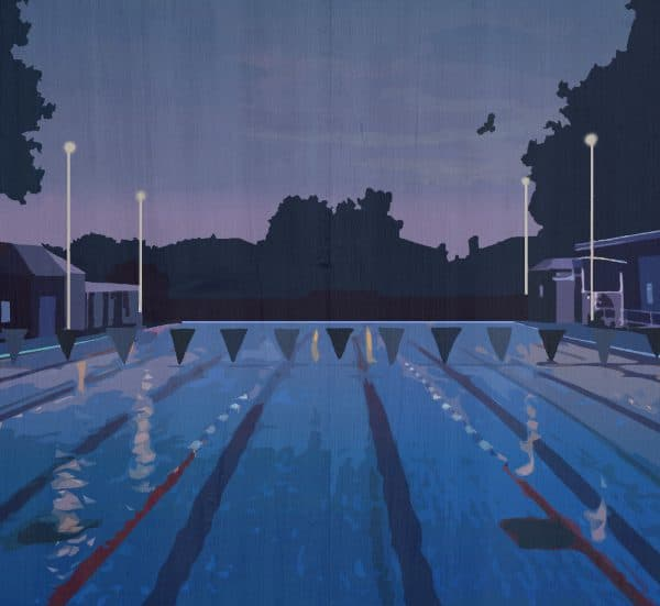 london fields lido postcard print