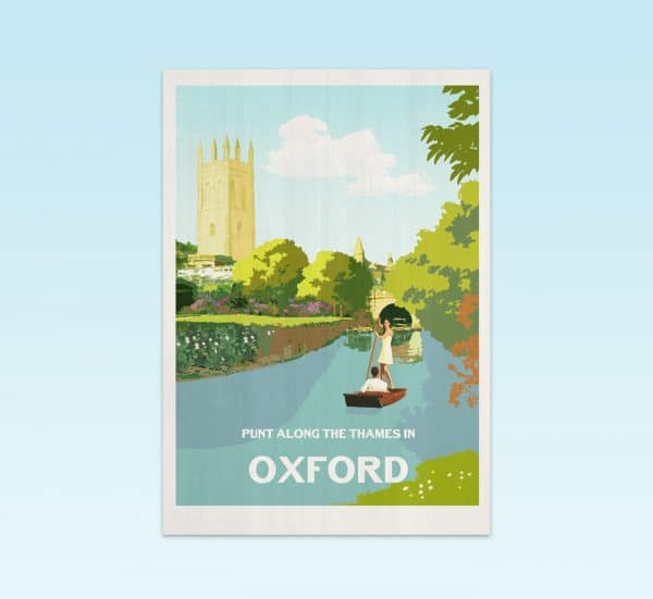 Oxford postcard print