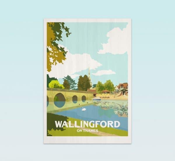 wallingford on thames postcard print