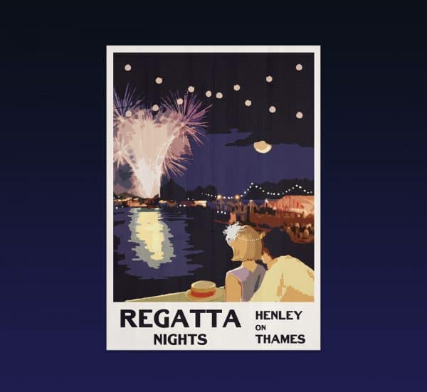 Henley regatta postcard print