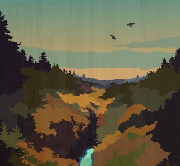 The Wilderness postcard print