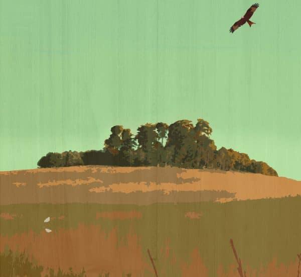 the wittenham clumps postcard prints